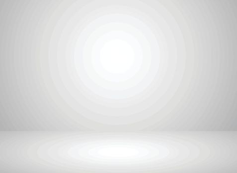 Studio room interior white color background with lighting effect. Vector illustration