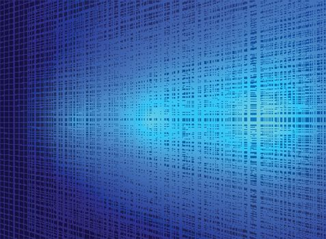 Abstract technology blue lines background with lighting effect. Vector illustration