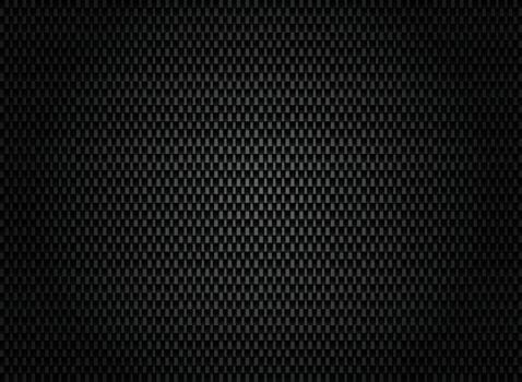 Abstract carbon fiber texture on dark background. Vector illustration