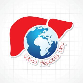 Vector illustration of World Hepatitis Day stock image and symbols