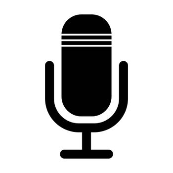 microphone icon, speech record design isolated on white backgroud