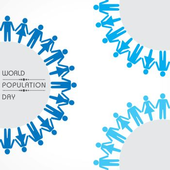 Illustration,Poster Or banner for World Population day Greeting