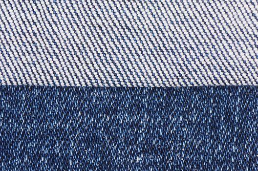 Dark blue female jeans - a fabric structure