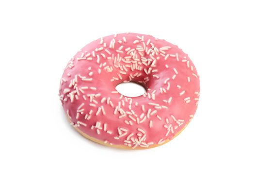 Fresh donut with sugar glaze close up