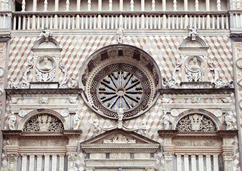 Rose window of Cappella Colleoni, Bergamo, Italy