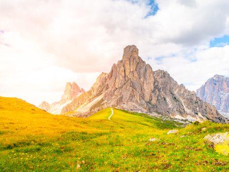 Passo Giau near Cortina d'Ampezzo, Dolomites, Italy.