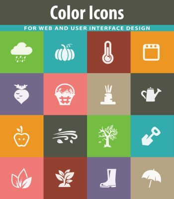 Autumn vector icons for user interface design