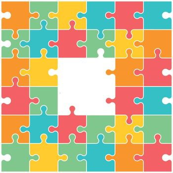 Connection and composition, puzzle illustration