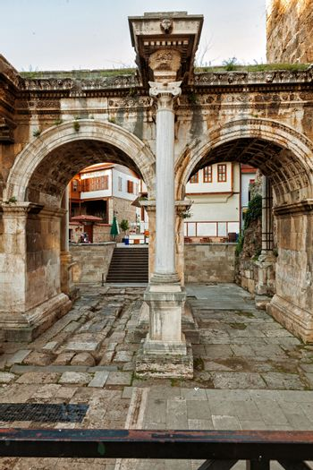 The Hadriyan's Gate in Antalya is a popular touristic place.