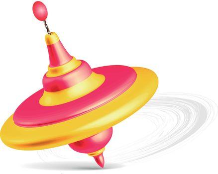 Whirligig toy isolated on white background. Vector illustration