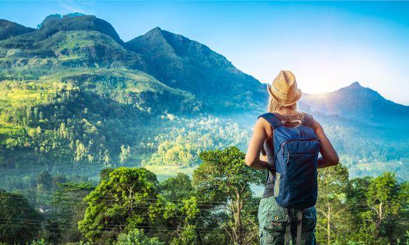 Traveler girl in Sri Lanka