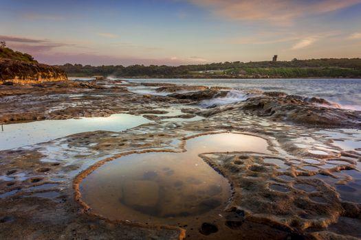 Malabar rockshelf in low tide