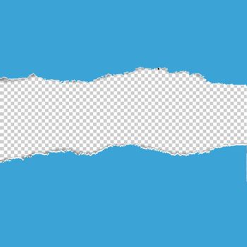 Color Torn Paper Borders With Transparent Background