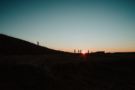 Silhouettes in Iceland