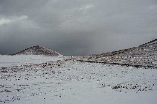 Snowy landscape in Iceland