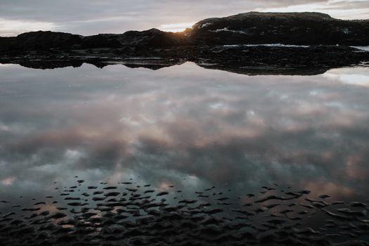 Quiet water in Stokksnes, Iceland