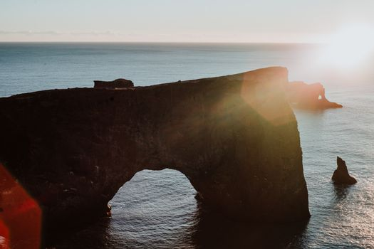 Rocks off the coast of Iceland