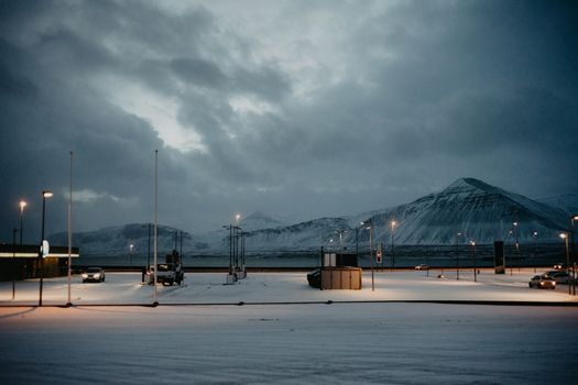 A petrol station in Iceland