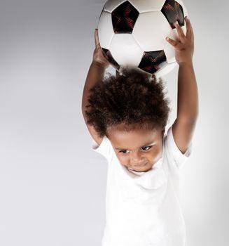 Cute little goalkeeper