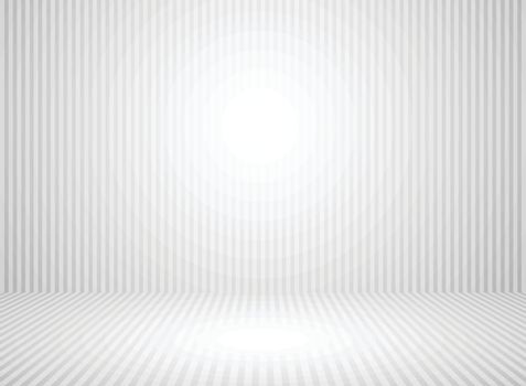Abstract white and gray wall room background with space platform backdrop gray line. Vector illustration