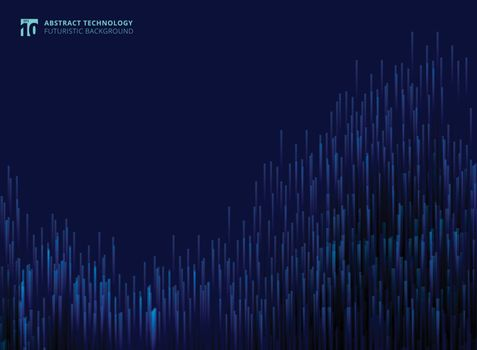 Abstract futuristic modern lines composed of glowing technology concept blue background. Vector illustration