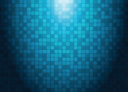 Abstract technology concept with lighting effect blue squares pattern futuristic background. Vector illustration