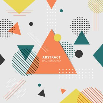 Abstract geometric colorful style background. Vector illustration