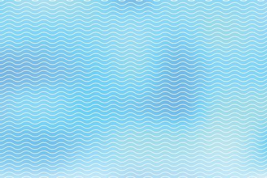 Abstract white lines wave on blue background, Wavy stripes pattern, Rough surface, Vector Illustration