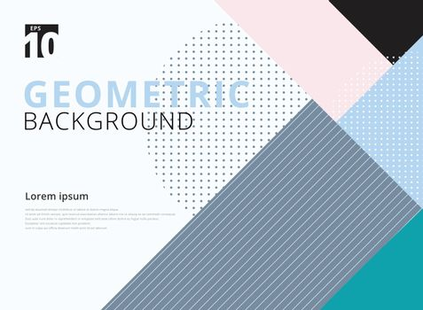 Template geometric pattern trendy abstract background. Vector illustration. You can use for your websites, blogs, banners, posters, for prints on clothes and other things, packaging etc.