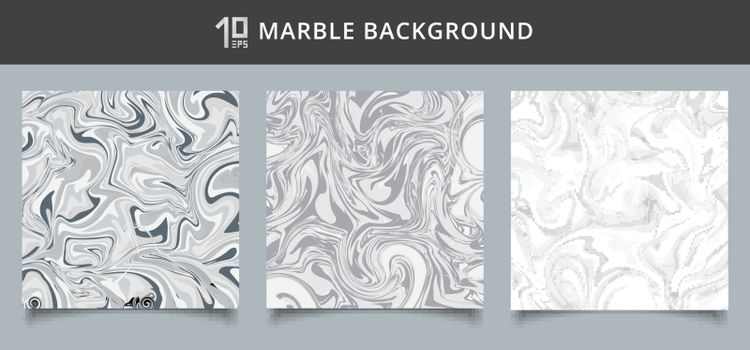 Template cover set gray and white marble background texture. Vector illustration
