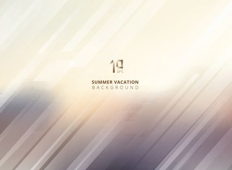Abstract summer blurred background with striped lines diagonally. Vector illustration