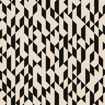 Abstract geometric black triangles structured pattern on brown background. Vector illustration