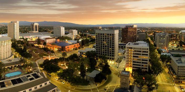 Panorama of San Jose California Downtown