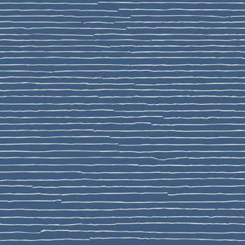 Blue seamless pattern. Hand drawn light grey lines. Abstract striped background.