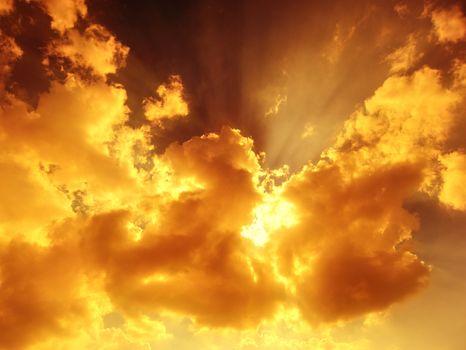 Sunbeam through the haze