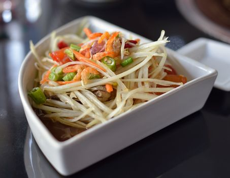 Papaya Salad ,Somtum Thai Food