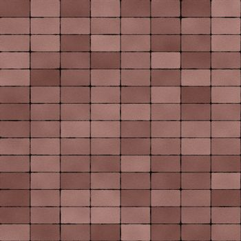 Road Paved with Dull Red Bricks Seamless Texture