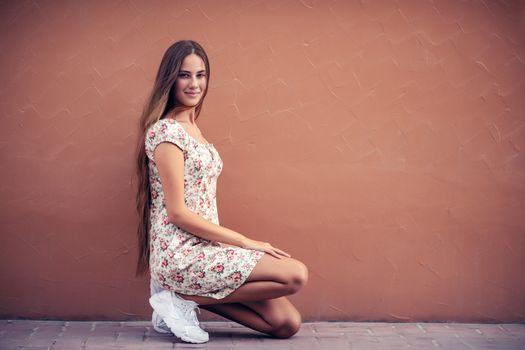Pretty girl on the street