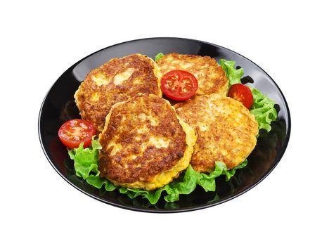 Potato pancakes isolated on white background with clipping path
