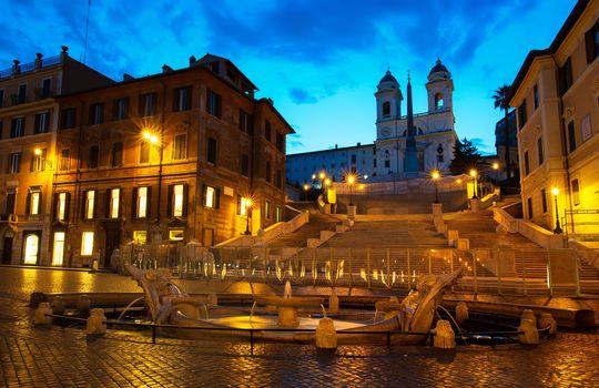 Spanish Steps and Fontana