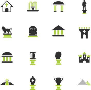 monuments icon set