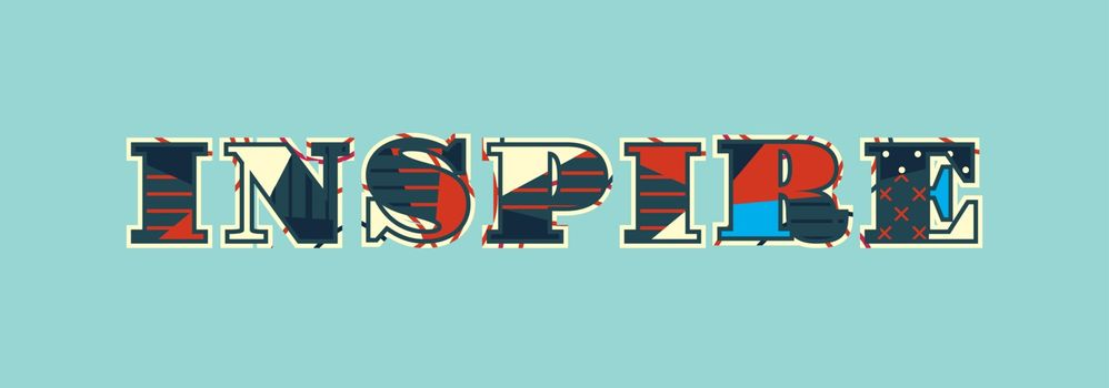 Inspire Concept Word Art Illustration