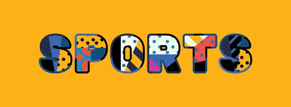 Sports Concept Word Art Illustration