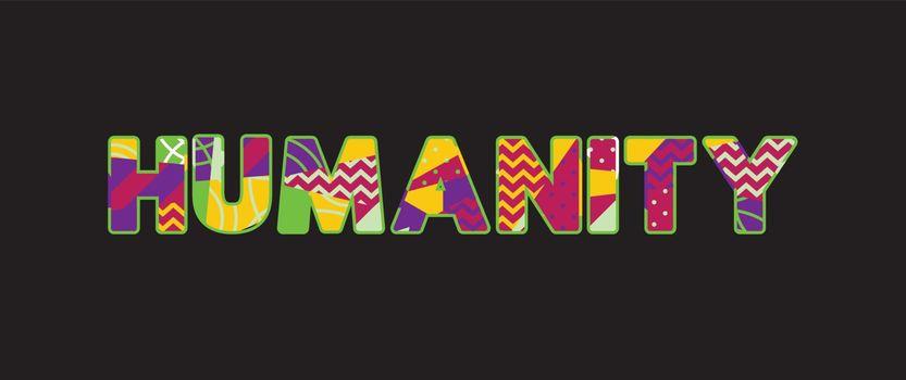 Humanity Concept Word Art Illustration