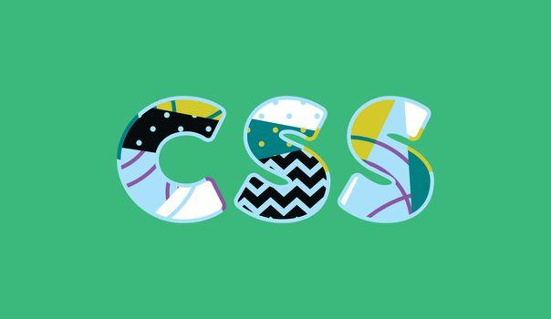 CSS Concept Word Art Illustration