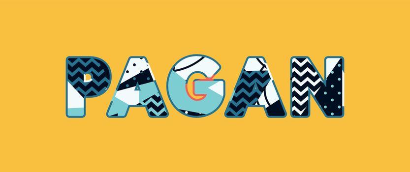 Pagan Concept Word Art Illustration