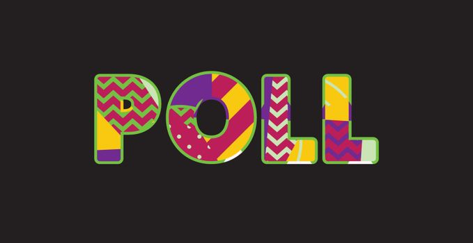 Poll Concept Word Art Illustration