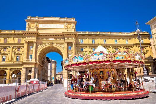 Piazza della Repubblica and Antica Giostra Toscana in Florence v