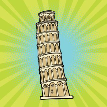 tower of Pisa. Italy tourism