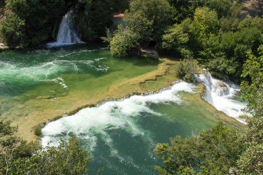 Beautiful Waterfalls In Krka National Park - Dalmatia Croatia, Europe
